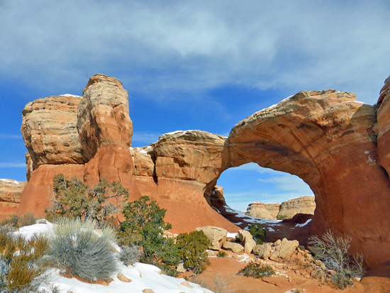 Broken Arch, named for the visible crack in the center of the arch