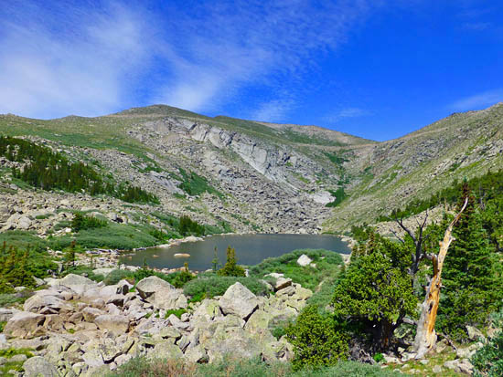 Lincoln Lake (11,624') in the Mt Evans Wilderness
